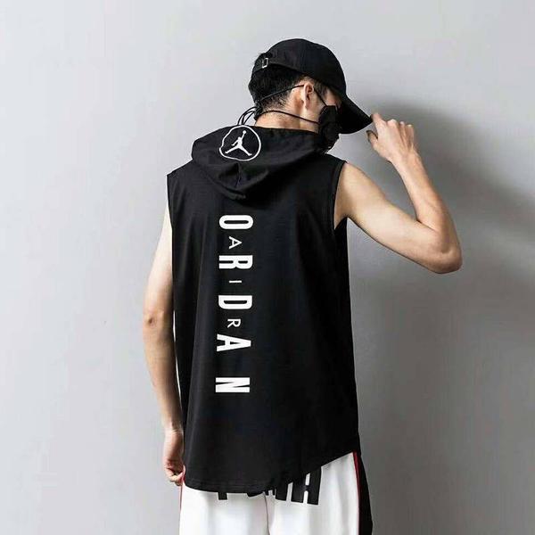 Air Jordan AJ 喬丹背心 帽T 無袖連帽上衣 籃球運動上衣 跑步健身T恤 NIKE排汗衫 男子大學帽T/澤米