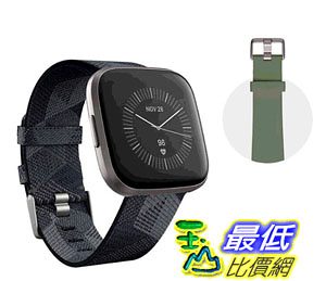 [COSCO代購] W136763 Fitbit 健康運動智慧手錶雙錶帶版 Versa 2 灰框菸灰編織錶帶