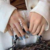 指環女纏繞珍珠開口時尚食指戒指【小酒窝服饰】