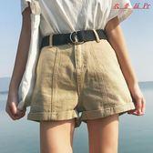 裝女裝韓版卷邊寬鬆闊腿短褲休閒牛仔褲