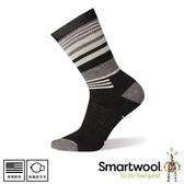 【SmartWool 美國 女中級減震型徒步條紋中長襪《黑》】SW001018/排汗襪/保暖襪/中長襪/運動襪