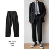 熱銷西裝褲ins闊腿褲寬鬆休閒直筒垂墜感西褲潮牌西裝大碼褲子男生長褲