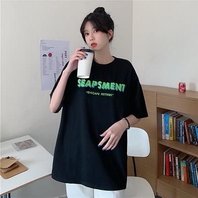 (下殺)彈性棉市場價短袖印花T恤【08SG06639】