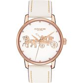 【僾瑪精品】COACH Delancey 經典馬車皮帶女錶-米白 14502973 公司貨