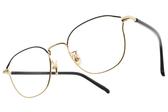 NINE ACCORD 光學眼鏡 PLACO ISIS2 C1 (霧黑金-黑) 韓系貓眼設計款 平光鏡框 # 金橘眼鏡