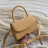 港風復古小包包女2020新款韓版氣質質感手提包時尚純色斜挎單肩包 Cocoa
