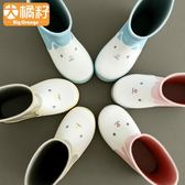 BIGORANGE小童中大童公主嬰幼兒童防滑男童女童雨鞋套雨靴水鞋1-3  莉卡嚴選