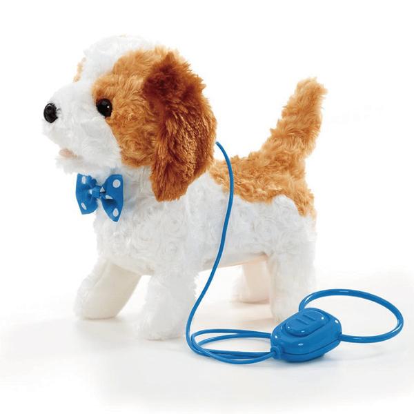 獨家品牌animal alley寵物王國 電動寵物散步狗-棕白