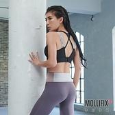 【小禎聯名設計】Mollifix 瑪莉菲絲 TRULY 高強度雙肩織帶運動內衣 (黑)