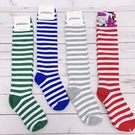 韓國及膝襪 條紋小腿襪 條紋襪子 女襪 ...