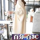 開衫毛衣女中長款韓版寬鬆蝙蝠袖針織衫外搭春秋2020新款秋裝外套 百分百