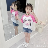 女童T恤2020夏裝新款中大兒童洋氣韓版時髦女孩卡通豬頭棉質上衣 TR1438『寶貝兒童裝』