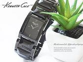 【完全計時】手錶館│Kenneth Cole時尚黑珍珠款 霧面質感黑 設計最愛IKC4711