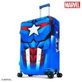 行李箱套 DESENO Marvel 漫威英雄造型 3D 防刮彈性 旅行箱保護套 行李箱套 美國隊長 L號 (28-29吋) 0003