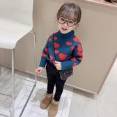 兒童毛衣女童冬裝2020新款毛衣韓版針織衫兒童洋氣上衣高領加厚保暖毛線衣 新品
