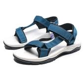 AIRWALK   白底 仗藍 兩條黏帶魔鬼氈涼鞋 男 (布魯克林) A821230182