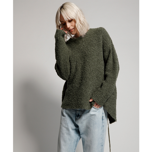 ONETEASPOON  WW  KHAKI ALPACA AXL KNIT SWEATER  毛衣-女(綠)