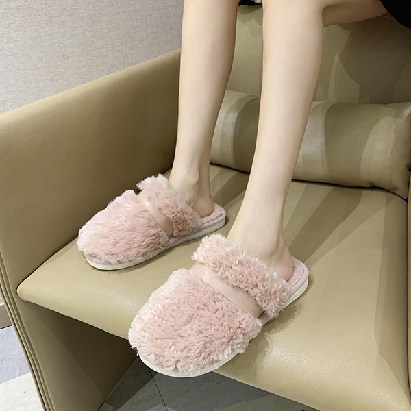 毛毛鞋 新款可愛毛絨包頭棉拖鞋女家居冬季防滑室內家用地板秋冬保暖拖鞋 維多原創
