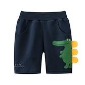 鬆緊微笑鱷魚角短褲 童裝 短褲