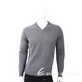 TRUSSARDI 皮革標灰色針織羊毛衫 1810246-06