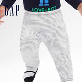 Gap女嬰兒 寶寶新生兒褲子屁屁褲 592526-淺麻灰