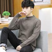 毛衣 半高領毛衣男韓版冬季保暖加厚打底針織衫修身男裝203 夢露時尚女裝