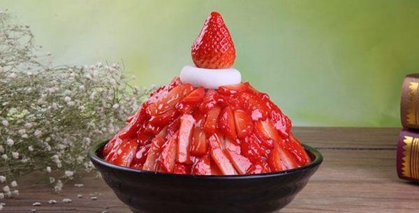 【協貿國際】仿真草莓雪花冰模型展示樣品食物食品模型