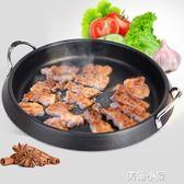 緣隆電磁爐燒烤盤家用烤肉盤無煙多功能烤鍋不粘烤盤韓式烤肉鍋QM『美優小屋』