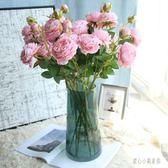 假花裝飾擺件 仿真牡丹花玫瑰花束婚慶家居客廳落地裝飾干花 nm10483【甜心小妮童裝】