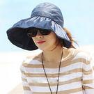 【TT】女士遮陽帽 韓版潮防紫外線大沿沙灘防曬太陽帽 可折疊涼帽