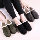 豆豆鞋棉鞋女冬加絨低筒鞋2019加厚豆豆鞋保暖百搭雪地靴一腳蹬平底 【全館免運】