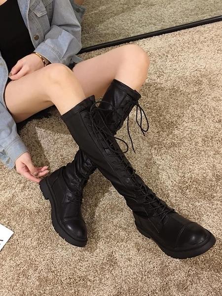 長靴 長靴女過膝靴2020新款秋季靴子ins百搭粗跟長筒秋款高筒騎士靴潮