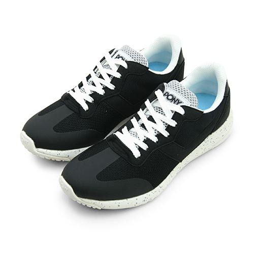 LIKA夢 PONY 繽紛韓風復古慢跑鞋 SOHO+ 甜心Q嫩運動系列 黑白 73W1SQ62BK 女