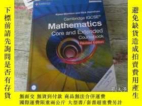 二手書博民逛書店Cambridge罕見IGCSE Mathematics core and Extended Coursebook