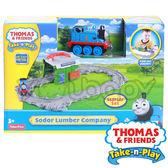 湯瑪士 THOMAS & FRIENDS 帶著走-多多島伐木工廠遊戲組