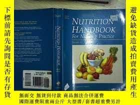二手書博民逛書店NUTRITION罕見HANNDBOOK FOR NURSING