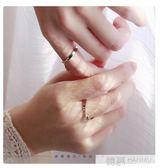 情侶戒指一對純銀日韓簡約時間男女對戒素圈 韓幕精品