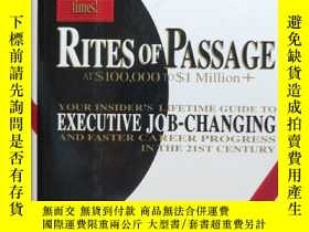 二手書博民逛書店rites罕見of passage at$100,000to $