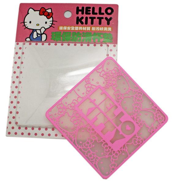 【卡漫城】Hello Kitty 隔熱墊 粉紅 環保 杯墊 ㊣版 防滑 止滑 凱蒂貓 三麗鷗