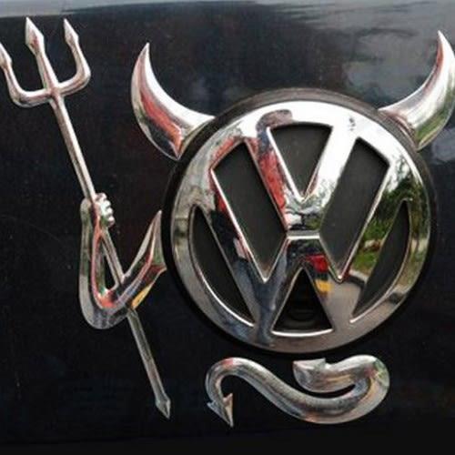 3D惡魔貼 立體小惡魔 車標裝飾貼 車貼紙 標誌 MAZDA FORD VW TOYOTA 三菱 沂軒精品 A0319