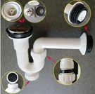【麗室衛浴】國產白色ABS塑料 P型落水頭+不銹鋼蓋 防止臭氣上來 易清潔 A-662