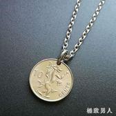 小惡魔 所羅門 外國硬幣圓型吊墜項鍊歐美文藝復古男女 HH3092【極致男人】