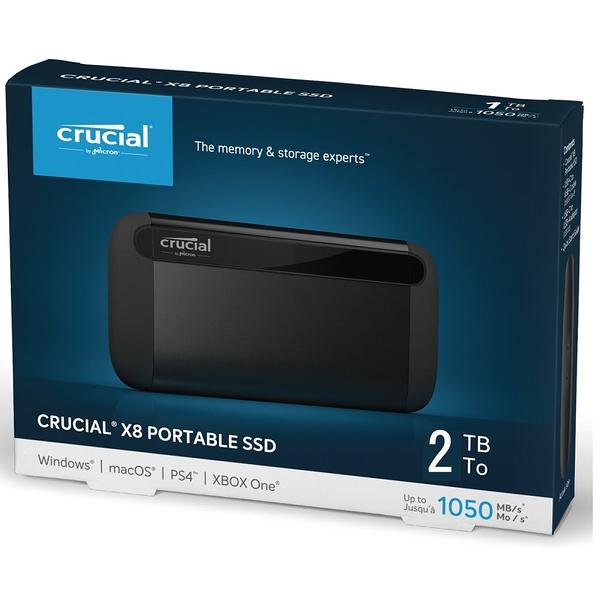 美光 Micron Crucial X8 2TB 外接式 SSD 2T USB Type-C