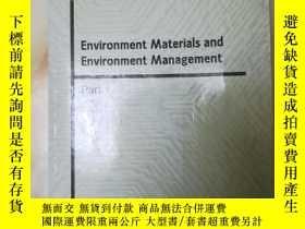 二手書博民逛書店罕見孤本,環境材料和環境管理(英文'Y27008 不洋