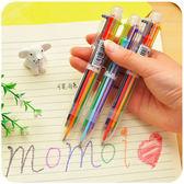 文具 可愛多色圓珠筆 6色 原子筆 簽字筆 圖畫筆 書寫工具 畫圖  彩色筆     【PMG205】-收納女王