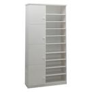 【采桔家居】麥莉 環保3.2尺塑鋼四門半開放式高鞋櫃/玄關櫃(5色可選)