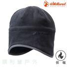 荒野WILDLAND 中性Pile保暖遮耳帽 W2001 黑色 刷毛 保暖帽 刷毛帽 OUTDOOR NICE