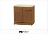 【MK億騰傢俱】BS312-04樟木色仿石紋面2.7尺碗盤下櫃