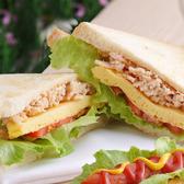 元氣燻雞三明治早餐套餐(附60元飲品)