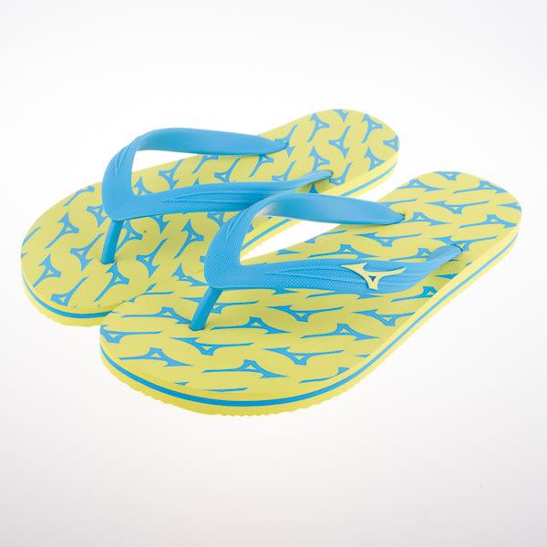 Mizuno  美津濃 FLIP FLOP 夾腳拖鞋 運動拖鞋 -綠/藍 K1GS168145